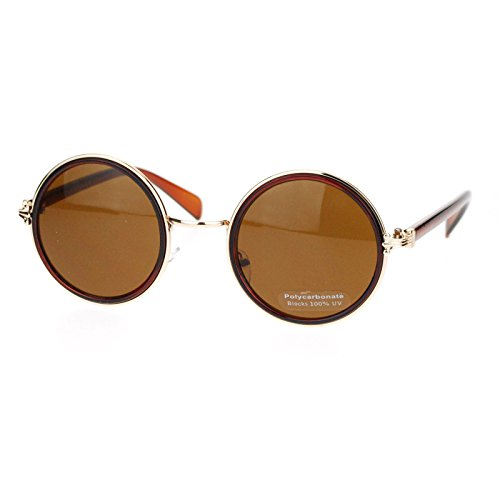 Retro Victorian Hinge Round Circle Lens Designer Fashion Sunglasses - Victorian Retro Sunglasses