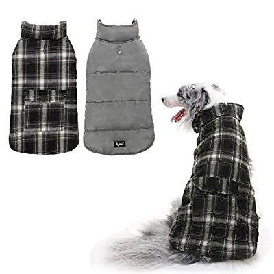 PUPTECK Reversible Dog Winter Clothes Waterproof Cold Weather Coat by BEIBAO