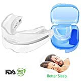 Anti Snoring Solutions Mouth Guard,Silicone Aid Snore Reducing Devices Shengsite Stop Snoring Teeth Grinding, Dr Mouth Guard for Natural and Comfortable Sleep