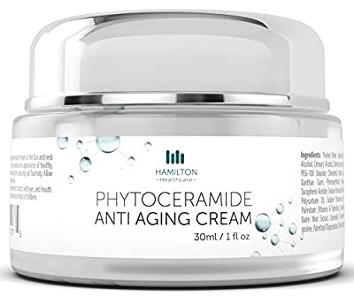 Phytoceramide Anti-Aging Cream, with Clinically Supported Ingredients for Anti-Wrinkle, Moisturization, Protection & Improves Skin Tone and Elasticity 30ml/1 fl. oz By Hamilton Healthcare