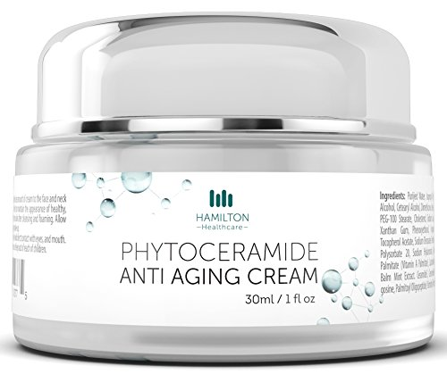 Phytoceramide Anti-Aging Cream, with Clinically Supported Ingredients for Anti-Wrinkle, Moisturization, Protection & Improves Skin Tone and Elasticity 30ml/1 fl. oz By Hamilton Healthcare (Ton Vent)