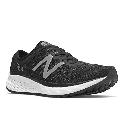 New Balance Men's 1080v9 Fresh Foam Running Shoe, Black/White, 11 D US ()