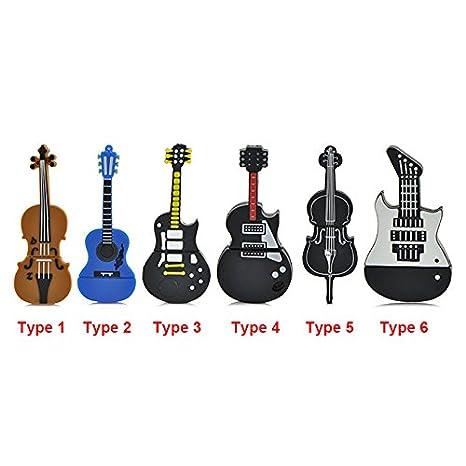 SUNNY-MERCADO fresco de la moda de la capacidad de la historieta Instrumento de la guitarra eléctrica ...