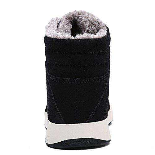 Caviglia Outdoor Stivali Nero Bootie della Invernali Uomo Calda JACKSHIBO Sportive Stivaletto Caldo 0tnP15Aq