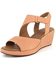 CLARKS Unstructured by Womens Un Plaza Sling Wedge Sandal