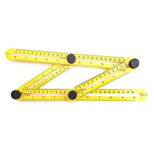 [해외]Fenta 양면 눈금자 측정 도구 앵글 라이저 템플릿 도구/Fenta Four-Sided Ruler Measuring Instrument Angle-izer Template Tool