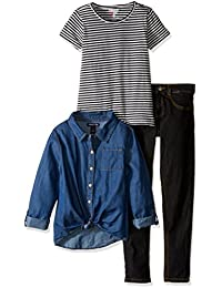 """Limited Too Little Girls' """"Chambray vs. Denim"""" 3-Piece Outfit"""