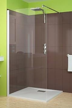 Mampara de ducha Smart solo 80 cm perfil blanco: Amazon.es ...