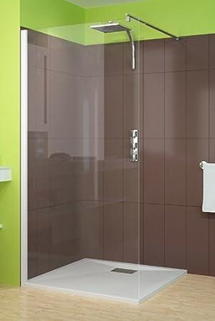 Mampara de ducha Smart solo 80 cm perfil blanco: Amazon.es: Bricolaje y herramientas