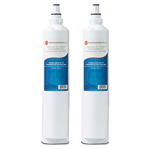 LG 5231JA2006A LT600P 5231JA2006B Comparable Refrigerator Water Filter 2 Pack