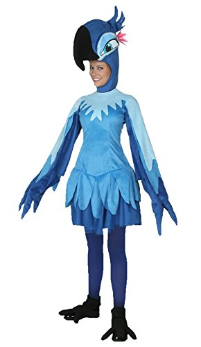 [Cscon Womens Cartoon Animal Cosplay Costume Adult Blue Parrot Clothes] (Parrot Costume Female)