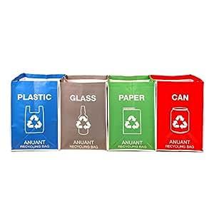 Amazon.com: Bolsas de basura de reciclaje separadas para ...