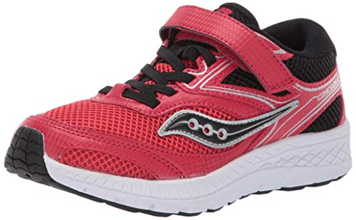 Saucony Kids Cohesion 12 A/C Sneaker red/black 4 Medium US Big Kid (Saucony Kids Shoes)
