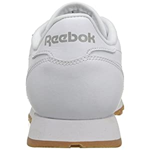 Reebok Women's CL Lthr Fashion Sneaker, Us-White/Gum, 9 M US