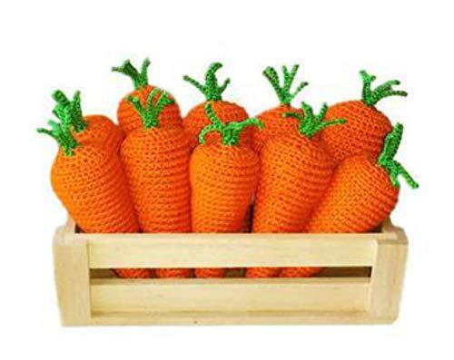 Stuffed carrots Organic Easter Basket Stuffers Toddlers Farmhouse Living Room Orange Decor Accents