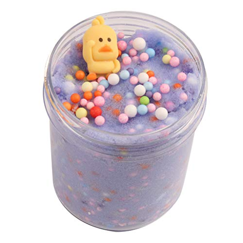 BODOAO Slime Fluffy Slime Yellow Duck Fluffy Cloud Slime Scented Therapeutic Putty Cotton Candy ()