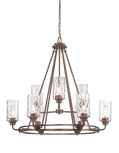 (Designers Fountain 87189-OSB Gramercy Park 9 Light Chandelier, 34