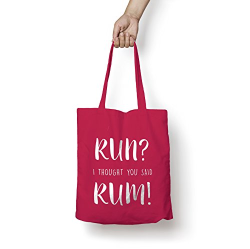 Bag Bag with You Shopper Cotton Funny With Print Tote Said Thought Emerald White Print Personalised Emerald Workout White Rum MYOG New Yoga I Run Prints wZxvqnXUP