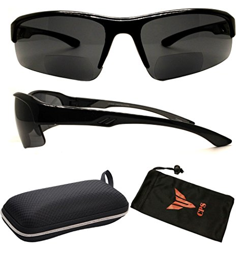(#RCXXBF-SP Blk2.75) Bifocal Sport Safety Glasses UV Protection Reading Glasses Sun Readers + Case ( These Are Bifocal Sunglasses - Eyewear Sp