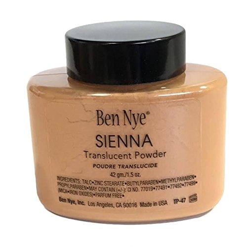 Ben Nye Sienna Powder Authentic Translucent Face Makeup Bottle 1.5 Oz/ 42 Grms. - Lumiere Creme