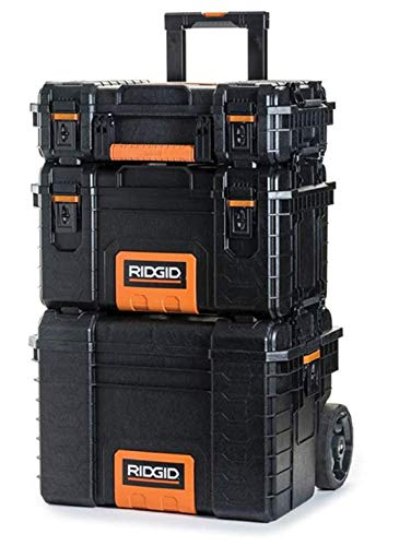 RIDGID Professional Tool Storage Cart And Organizer Stack, 3 Tool Box Combination from Ridgid
