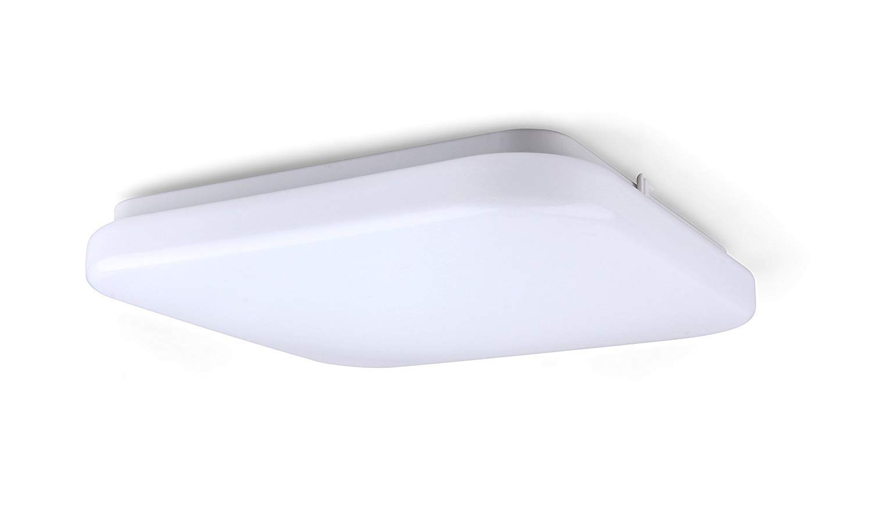 Yeuloum 12 inch LED Square Flush Mount Ceiling Light Fixture, Dimmable, 1540 Lumen, 22.5W Repalce 150W, ETL/ES Rated