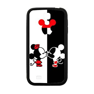 Cartoon Disney Micky And Minie Kiss Black Samsung Galaxy S4 case
