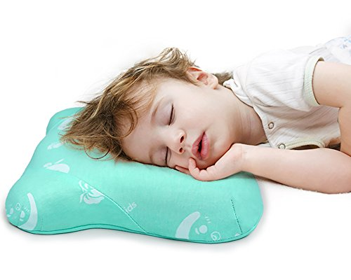 Toddler Pillow for Sleeping, Small Nap Pillow for Kids Travel Size 15'' x 10'' (Green) by Restcloud