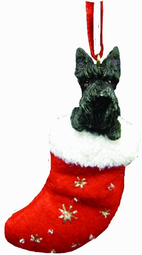 - Scottish Terrier Christmas Stocking Ornament with