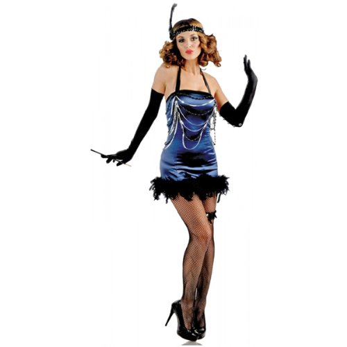 Womens All That Jazz Flapper Costumes (All That Jazz Adult Costume Blue - Small/Medium)