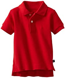 Kitestrings Baby-boys Infant Solid Pique Polo Shirt, Red, 6-9 Months