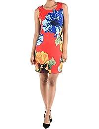 Sleeveless floral shift dress
