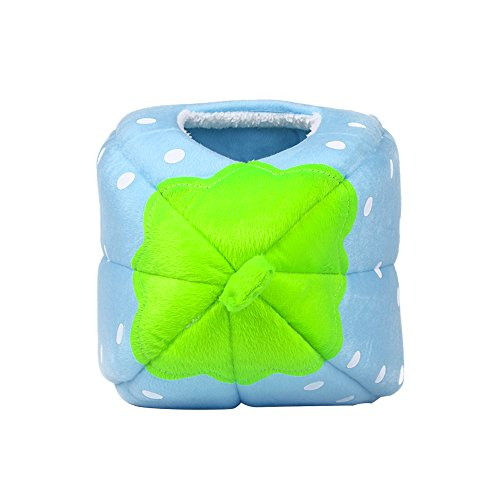 Spring Fever Strawberry Guinea Pigs Fleece House Rabbit Cat Pet Small Animal Bed Blue L (16.916.90.8 inch) by Spring Fever (Image #6)