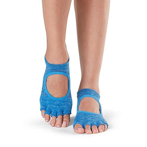 Yoga Toe For Toesox Lapis Calze Half Grip Socks Barre Pilates amp; Donna Ballet non slip Bellarina 881av