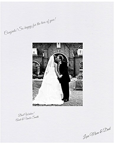 Amazon Photo Mats 16x20 White Signature and Autograph Picture Mat for 5x7 Picture. Weddings, Baby Showers, Reunions