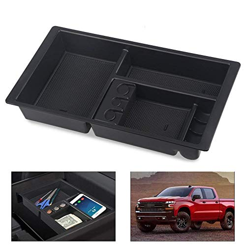 SPAUTO Center Console Insert Organizer Tray for 2015-2019 GM Vehicles Silverado, Tahoe, Suburban, Sierra, Yukon, Escalate - Aftermarket Part Replaces 22817343