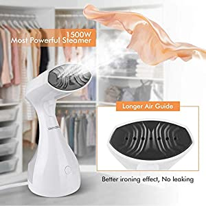 Rossmann Handheld Garment Steamer, MagicPro 1500 Watts Portable Travel Steamer with Heated Ceramic Sole Plate, 25 sec…