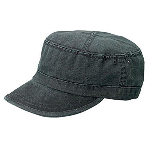 Black Fatigue (Vintage Fatigue MCap Flat Top Cap, Black)