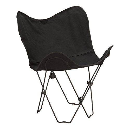 - Fat Catalog Metal Butterfly Chair, Black, ALT-OUG1002BK-SO