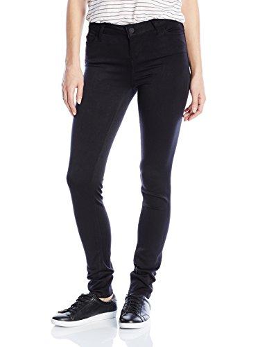 Black Rinse - Celebrity Pink Jeans Women's Super Soft Mid Rise Skinny Jean, Black Rinse, 9