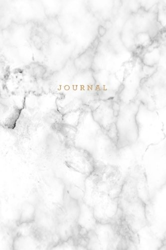 Journal: Marble + Gold Notebook: 120-Page Marble Journal (Gorgeous Journals) (Volume 1) (English Journal)