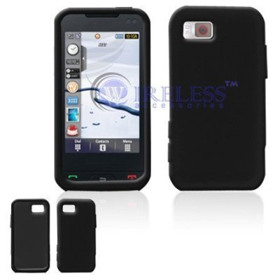 amazon com black solid silicone skin cover case cell phone rh amazon com Samsung Phone SGH-A257 Samsung SGH-A867 Set 1 Touch Phone Numbers