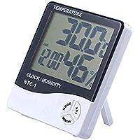 SALAKA 1PC Digital LCD Termómetro Higrómetro Temperatura electrónica