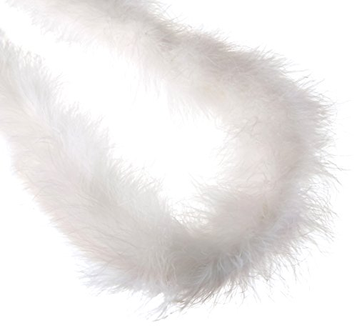 Zucker 5058-W Heavy Weight Marabou Feather Boa, 72-Inch, White