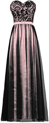 long black and pink prom dresses - 5