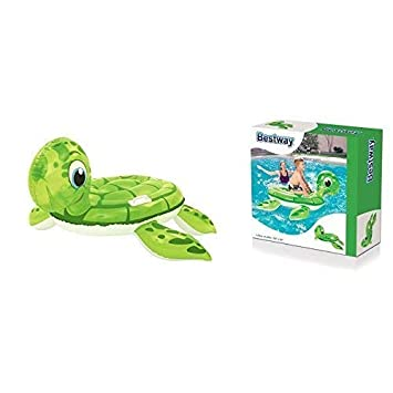 lively moments Isla de baño / Flotador Animal/Colchoneta/Montura Transparente Tortuga para niños Aprox. 140 x 140cm: Amazon.es: Juguetes y juegos