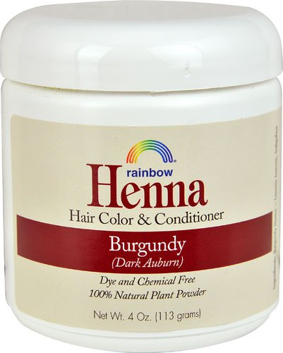 Rainbow Research Henna Hair Color and Conditioner Burgundy Dark Auburn -- 4 oz - 2pc by Rainbow Research