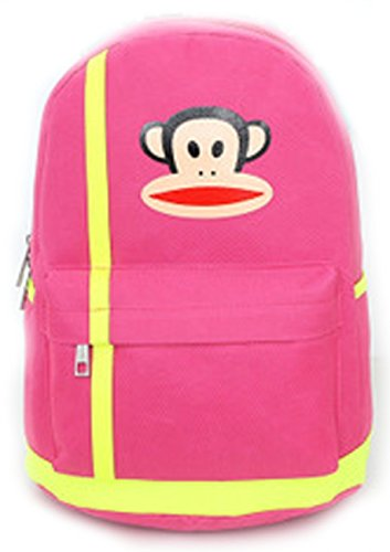 Colorful Paul Frank Cartoon Double Shoulders Backpack Nice for Pupil Students