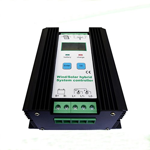 JNGE POWER 1200W Wind Solar Hybrid Controller 50A 24V Auto LCD Wind Turbine 600W and Solar Panel 600W Economic Solar Wind Hybrid Controller with with over current protection by JNGE POWER