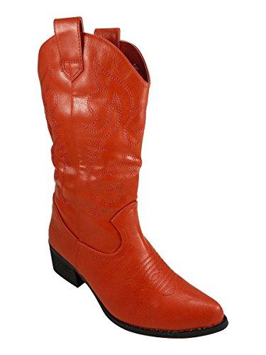 santiag Mujer Rojo - rojo